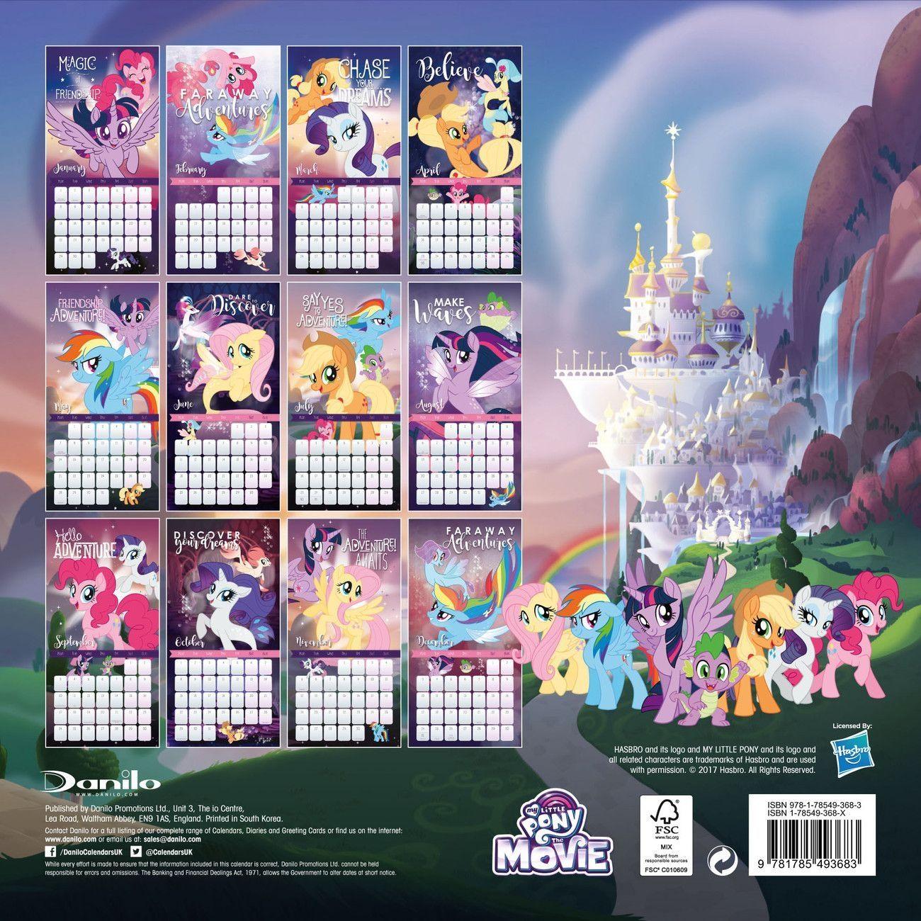 Chase Calendar 2022.Universal Calendrier 2021 My Little Pony Pony Wall My Little Pony Coloring My Little Pony