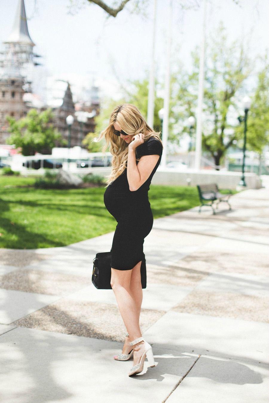 540bd6b03972b Little Black Dress Barefoot Blonde by Amber Fillerup Clark #poshmama # pregnancy #mom #baby #maternity #fashion #style #womensfashion