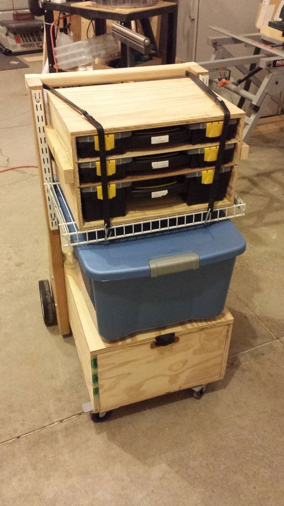 Mobile Toolbox And Work Station Workbench Pinterest