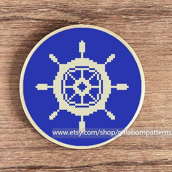 PDF counted cross stitch pattern  Nautical by galabornpatterns, $4.20