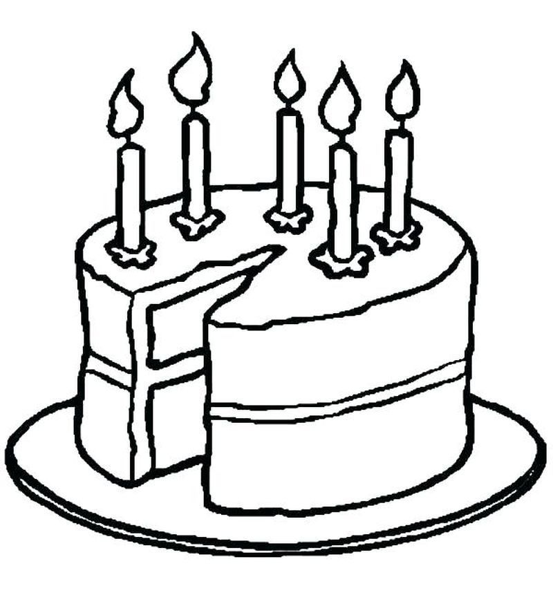 Collectin Of Birthday Cake Coloring Pages To Print Birthday Cake