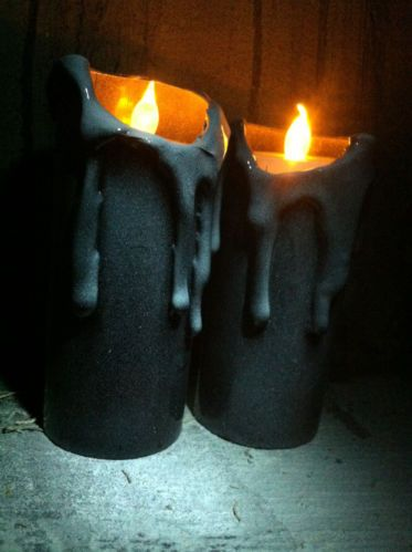 Halloween Haunted House Prop Decor* LED Flickering Candles