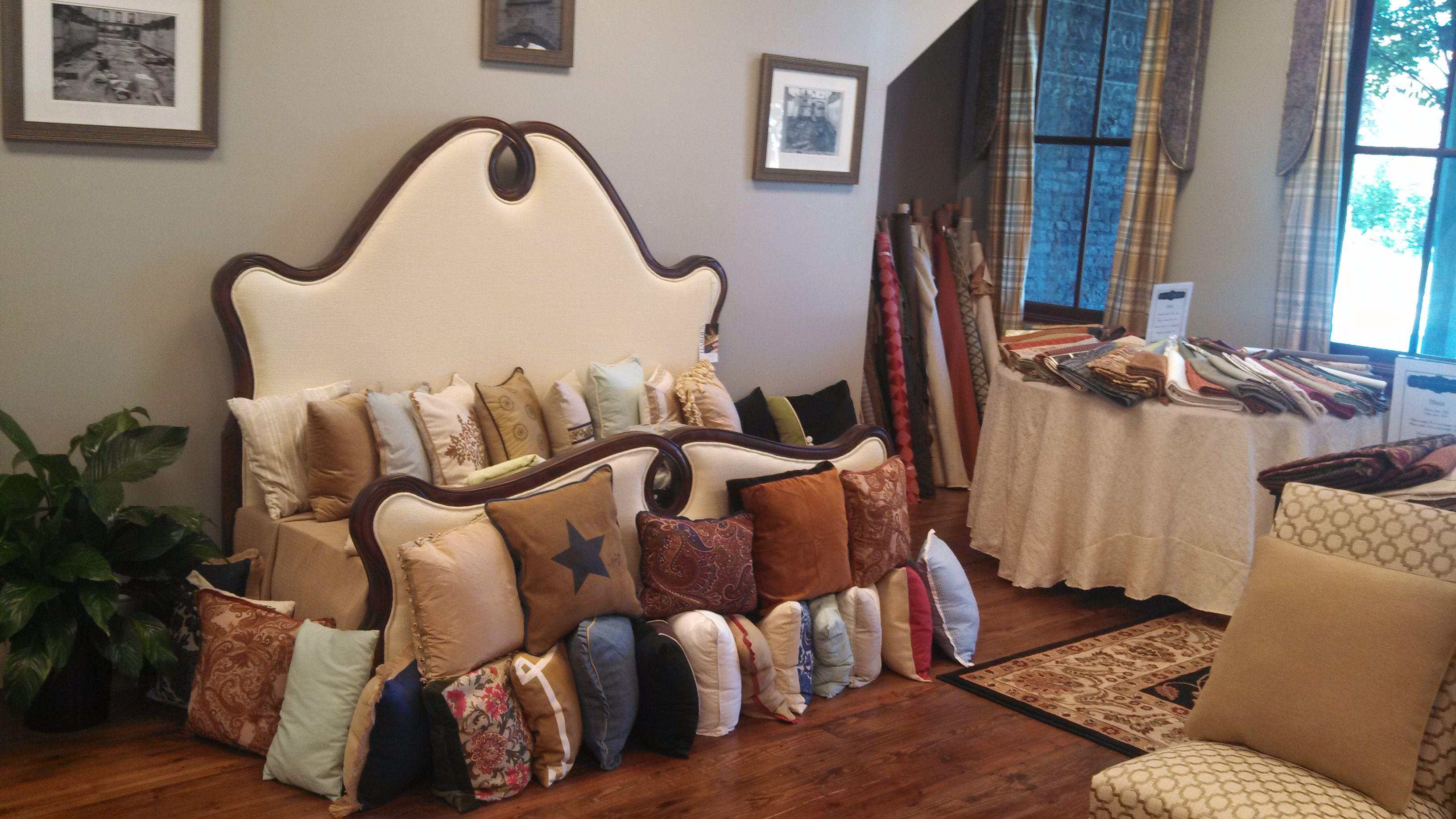 Throw pillows and custom beds.