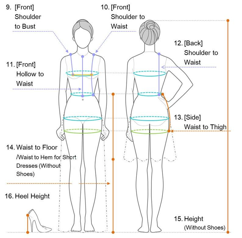 Wedding Dress / Measuring Guide / How to take measurements