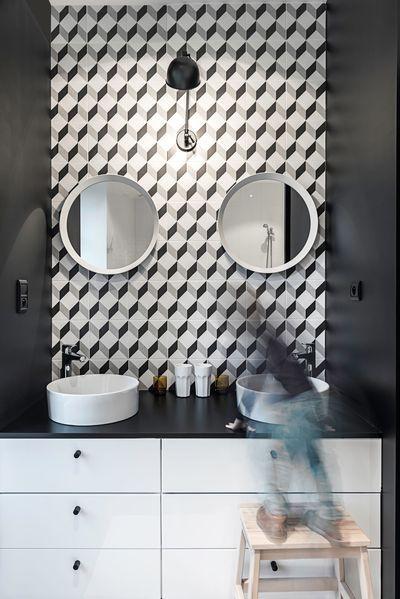 Maison longère contemporaine de 180 m2 à Nantes Interiors, Bath - Salle De Bains Nantes