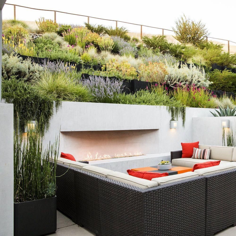 9 ideas for a hillside garden water wise backyard and plants