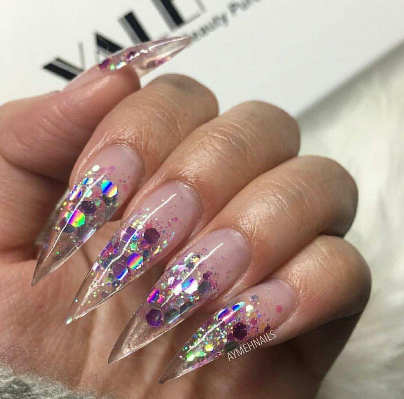 Nails. Clear Nails. Stiletto Nails. Acrylics Nails | Nails ...