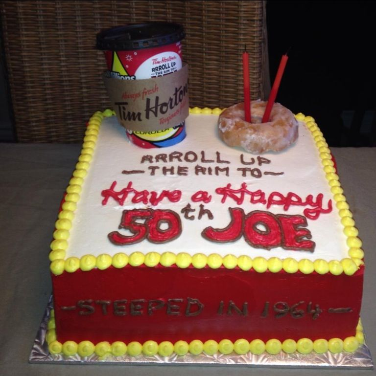 50th Birthday Cake Idea Perfect For Canadians Who Love Timmies