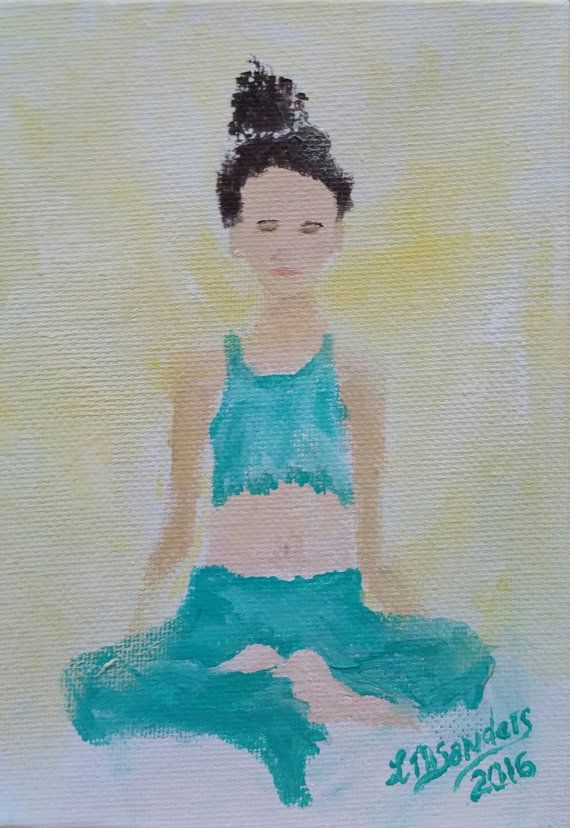 original yoga painting omwoman yoga meditate.  Yoga Yoga Art Original Painting Mantra Woman MeditateYoga Apparel In Yoga Painting Omwoman Meditate C