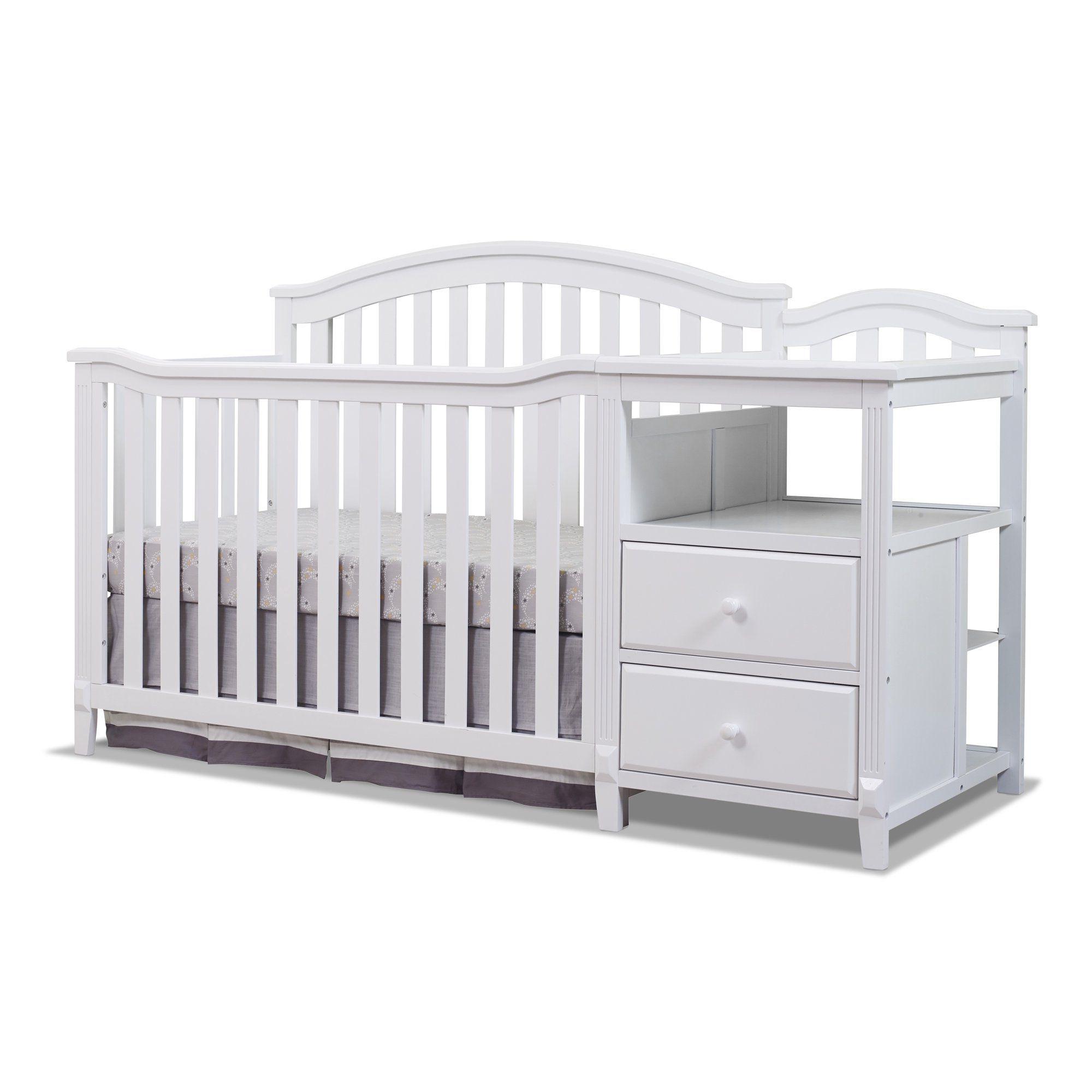 Sorelle Furniture Berkley 4 In 1 Convertible Crib And Changer Gray Walmart Com In 2021 Luxury Baby Crib Crib And Changing Table Combo Convertible Crib Cribs with changing table combo