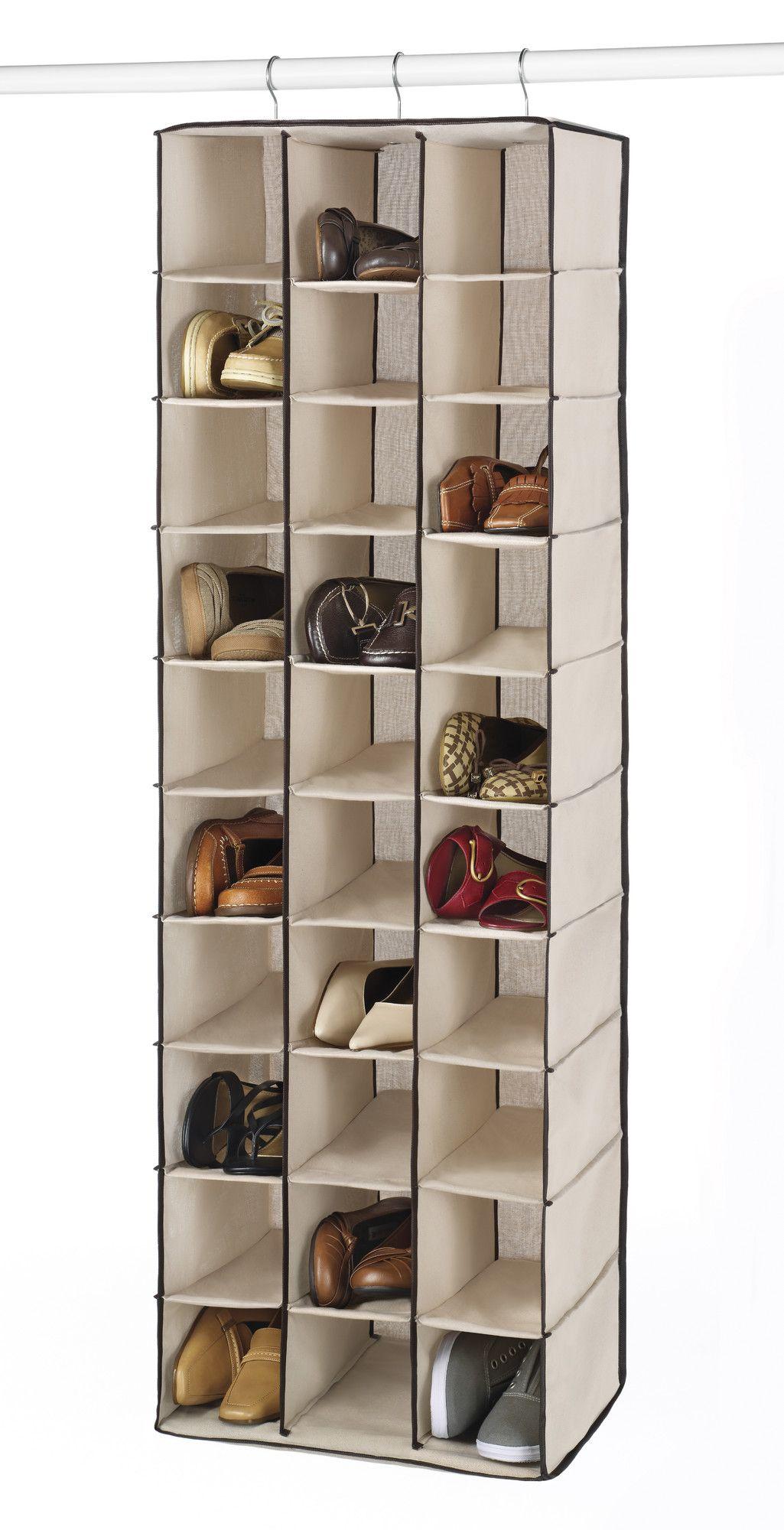 30 pair hanging shoe organizer