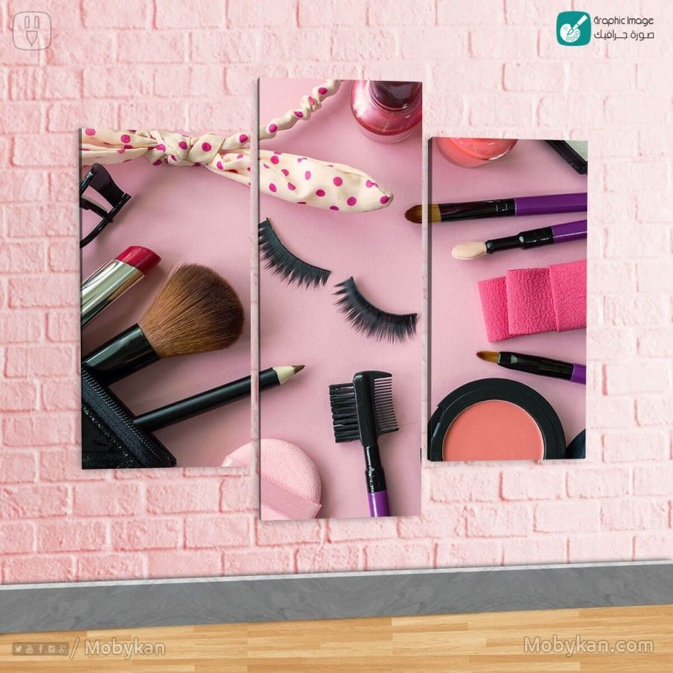 Makeup Products And Cosmetics On Pink Background Pink Background Pink Makeup Wallpaper Pink Makeup
