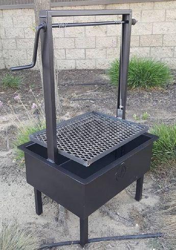 24x18 Height Adjustable Santa Maria Grill Bbq Grill Design Backyard Bbq Pit Bbq Pit