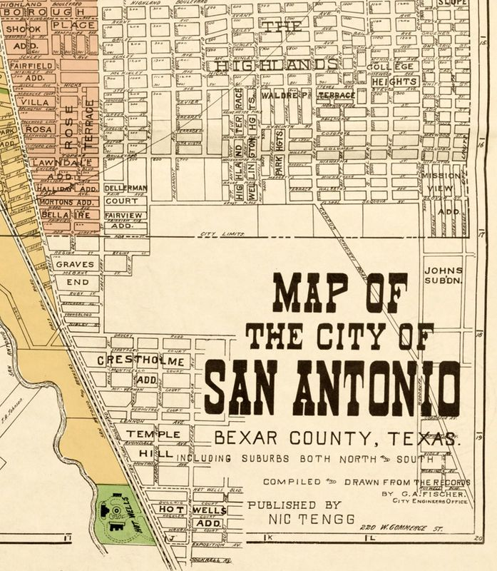 Old map of San Antonio Texas 1924 in 2019 | Texas- vintage ... San Antonio Texas Map on cleveland ohio map, corpus christi texas map, texas city map, gilbert texas map, laredo texas map, houston texas map, texas rivers map, kelly afb texas map, galveston texas map, aransas pass texas map, marble falls texas map, lytle texas map, united states map, texas county map, odessa texas map, lackland texas map, gonzales texas map, fort worth texas map, plano texas map, bexar county map,