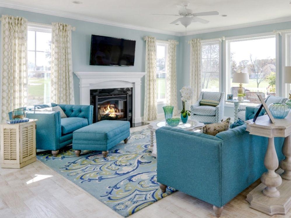 Coastal Turquoise Living Room Decor Living Room Turquoise Turquoise Living Room Decor Coastal Living Rooms #turquoise #living #room #chairs
