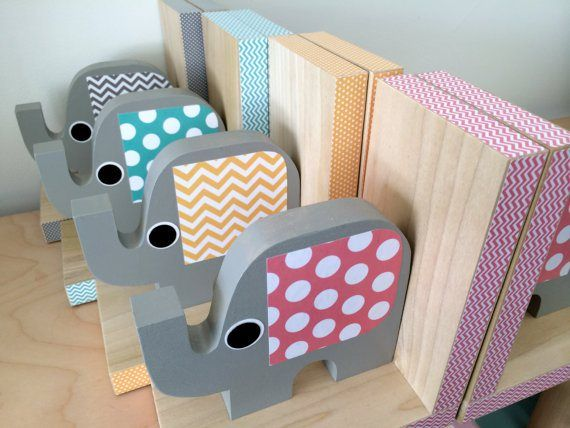 12 Cool Bookends To Beautify Your Library Bookends Woodworking For Kids Kids Room