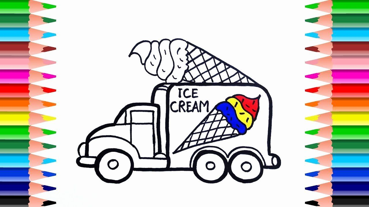 28 Ice Cream Truck Coloring Page In 2020 Truck Coloring Pages