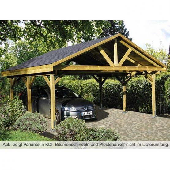 Der Carport Oder Das Carport: Carport Mit Satteldach Klassisch-zeitloses Satteldach
