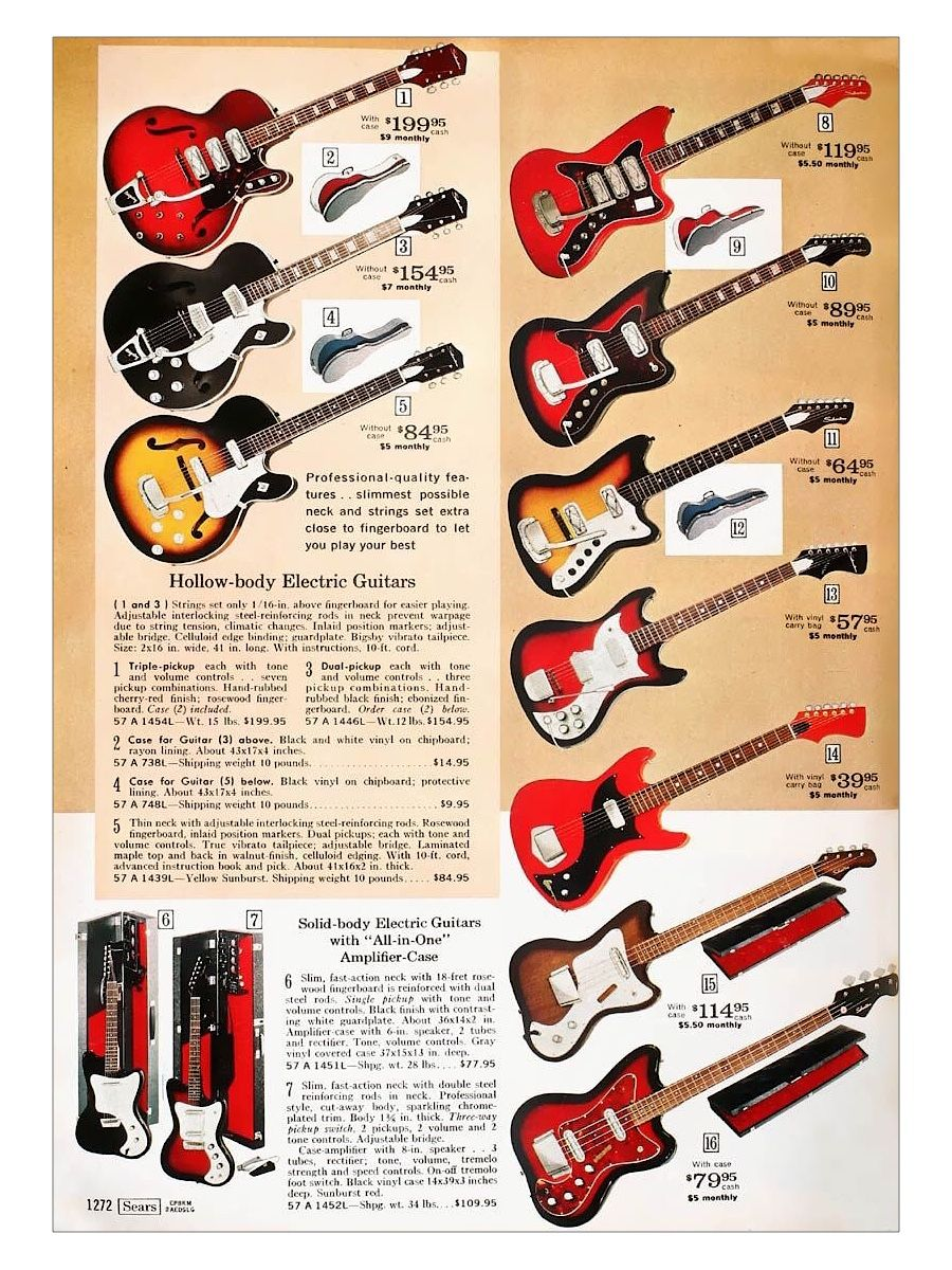 Sears Silvertone Guitar sheet | Guitar & Music Artifacts in ... on