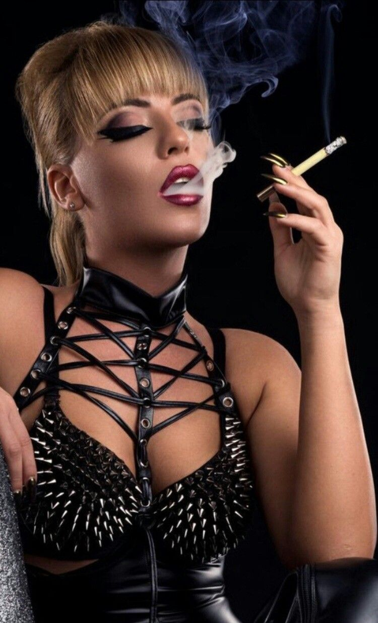 Smoking With Long Nails