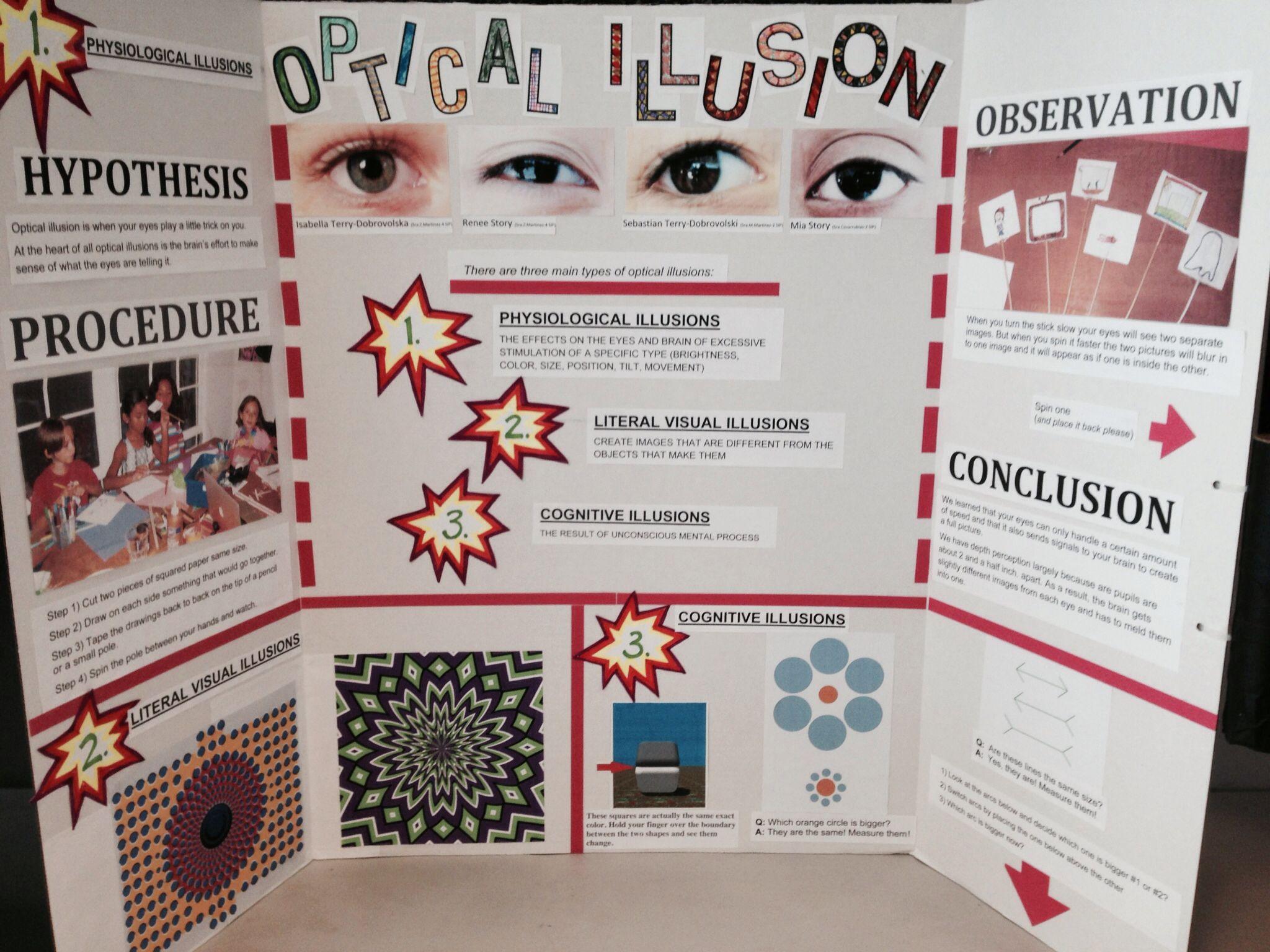 ed 325: optical illusion - science project idea | ed 325: science