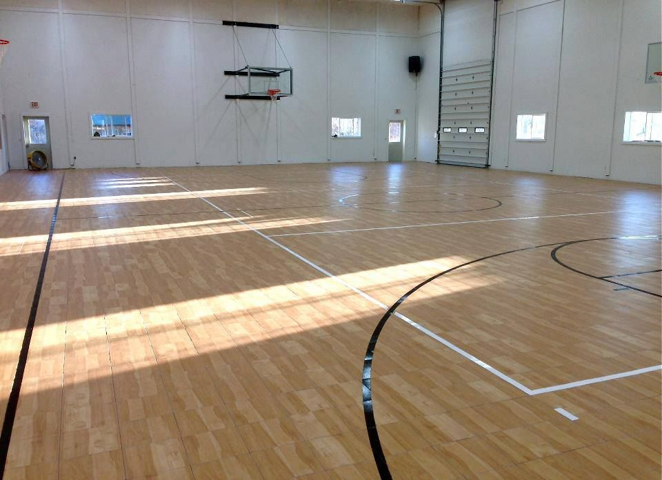 Full size indoor residential basketball court and for Indoor residential basketball court