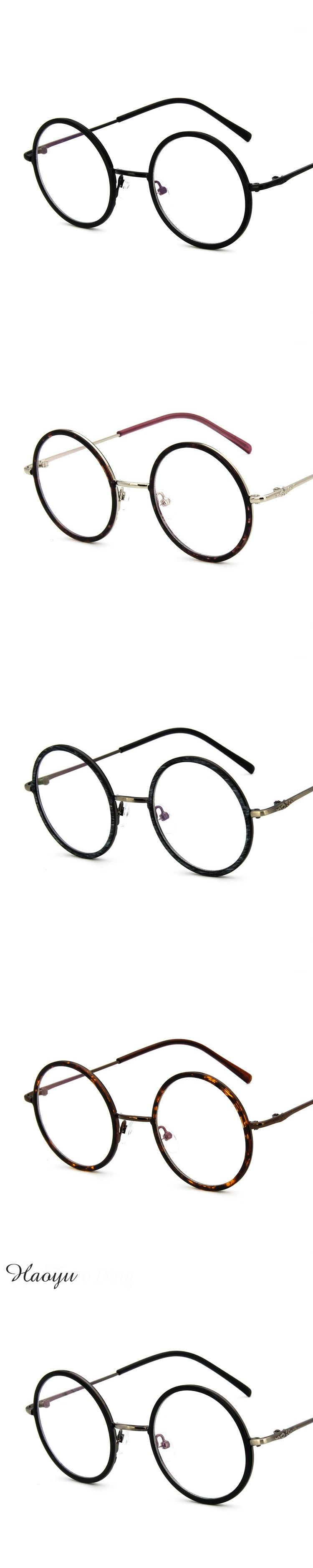 e8be99ad6a95 haoyu Men Big Round Glasses Frames Newest Purely Handmade Vintage Optical  Eye Frame Plain GlassES Fashion