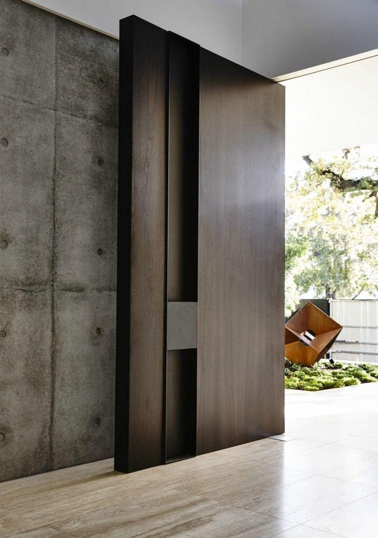 Porte Dentrée Moderne Pour Habiller La Grande Hauteur Sous Plafond - Porte entree maison