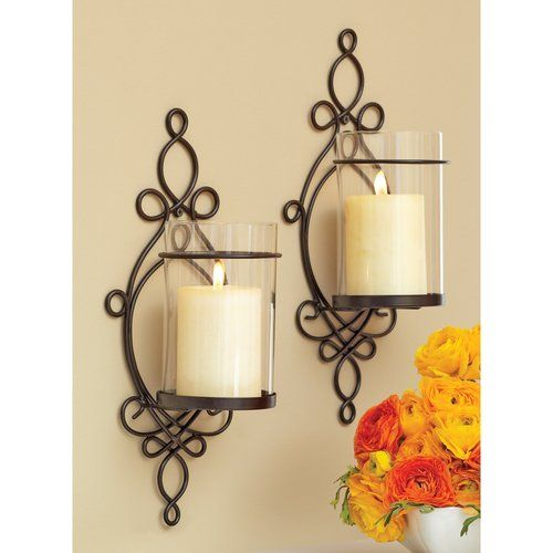 Exceptional Better Homes And Gardens Ironwork Loop Wall Sconces, 2pk. Candle Decorative Wall  Sconces. Images
