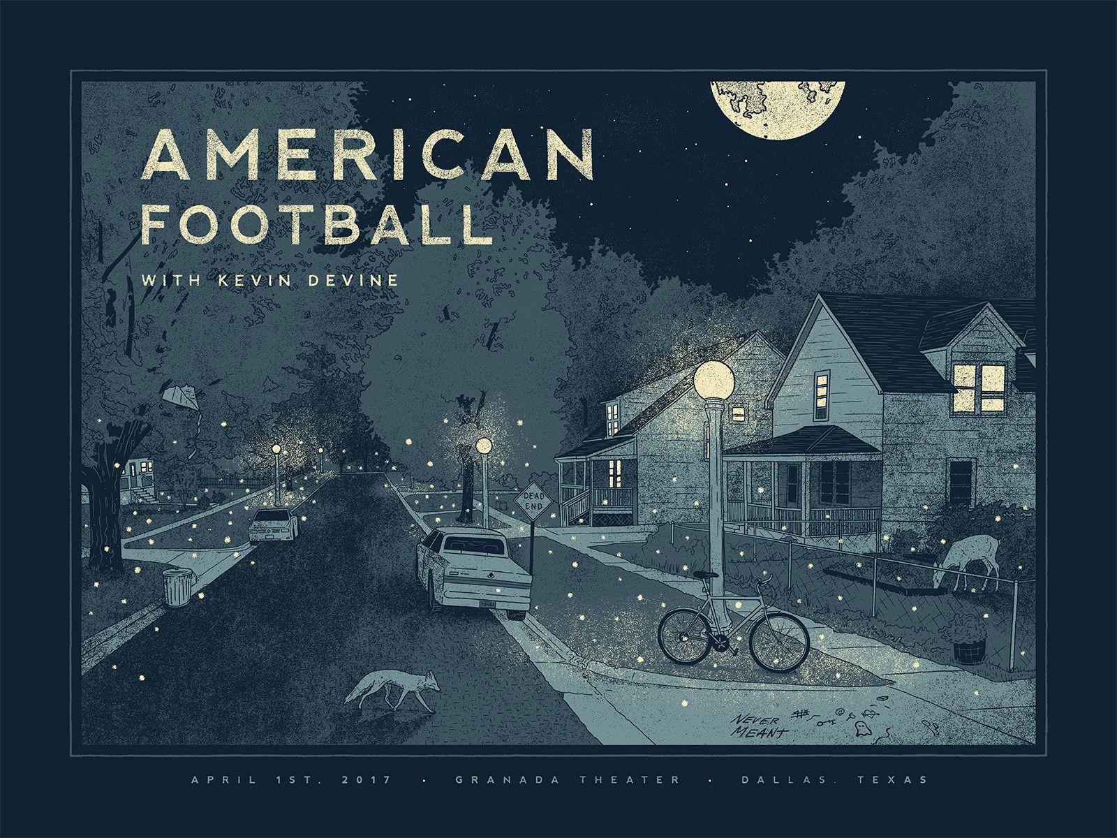 American Football Band Wallpaper Http Wallpapersalbum Com American Football Band Wallpaper Html In 2020 Football Poster Gig Posters American Football