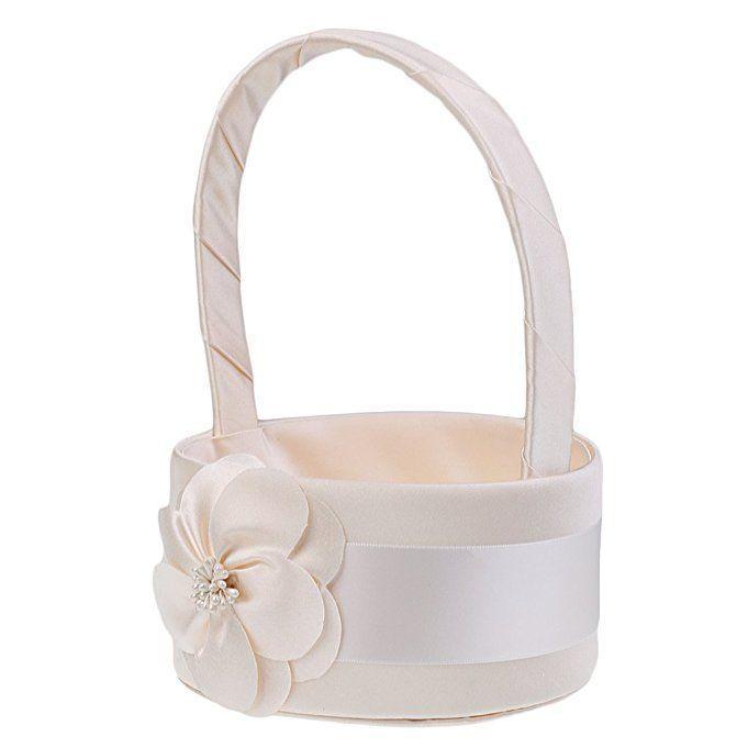 MonkeyJack Elegant Simple Flower Champagne Satin Basket Wedding ...