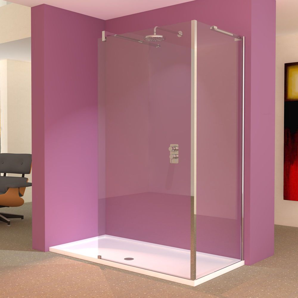 Walk In Shower Cubicle Enclosure Bathroom Glass Screens Tray Waste ...