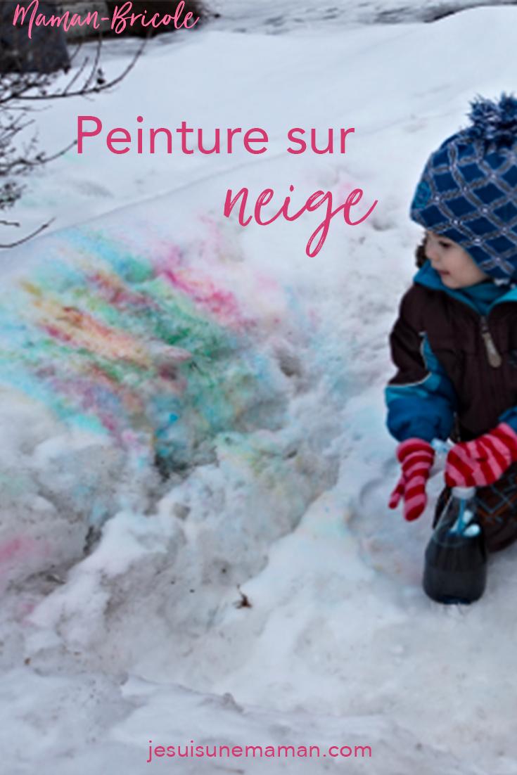 Jouer avec l'hiver — Je suis une maman