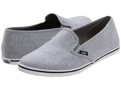 vans slip on lo pro gray