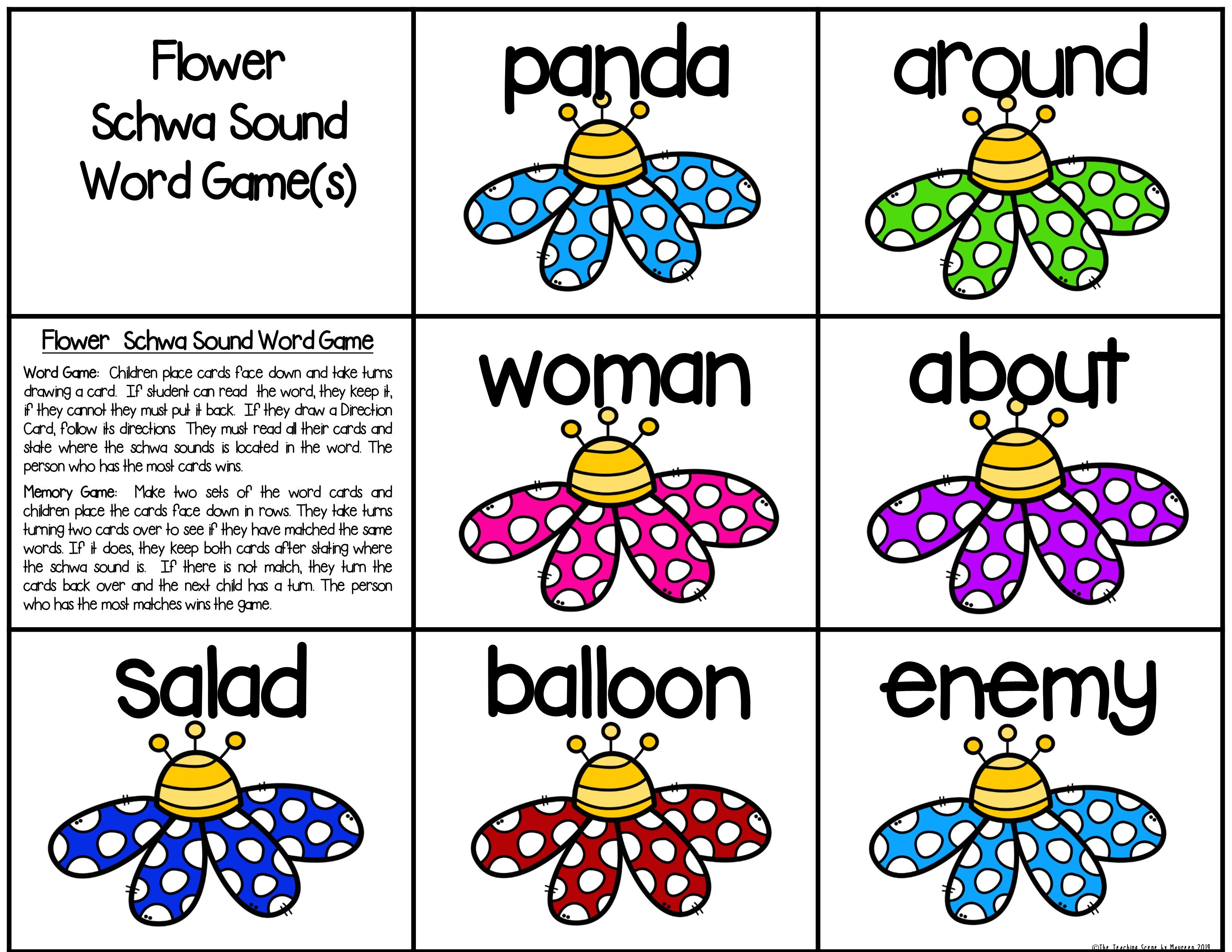 Schwa Sound Centers Activities Amp Worksheets