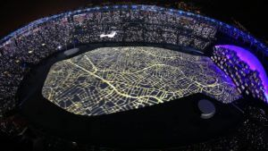 Vista do alto... Maracanã - RJ - 2016... A abertura da 31ª Olimpíada da Nova Era.