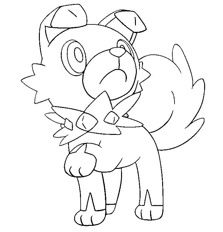 Coloring Page Pokemon Sun And Moon Rockruff 12 Pokemon