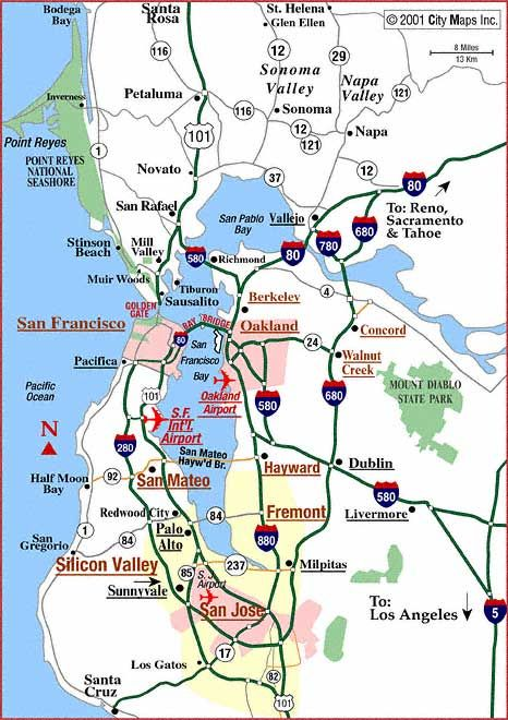 Road map of San Francisco Bay Area Bay Area Pinterest San