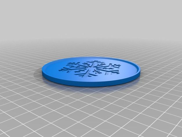 Elegant Snowflake Drink Coaster 3D Printed By 4ndreas. Drink Coasters