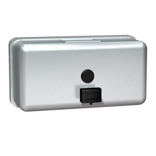Soap Dispenser Stainless Steel Horizontal Surface Mounted.
