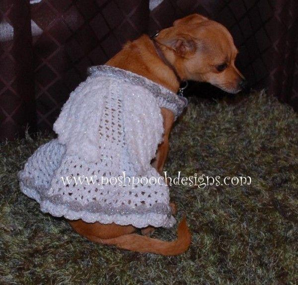 Crochet angel dog costume pattern for sale from Posh Pooch | Crochet ...