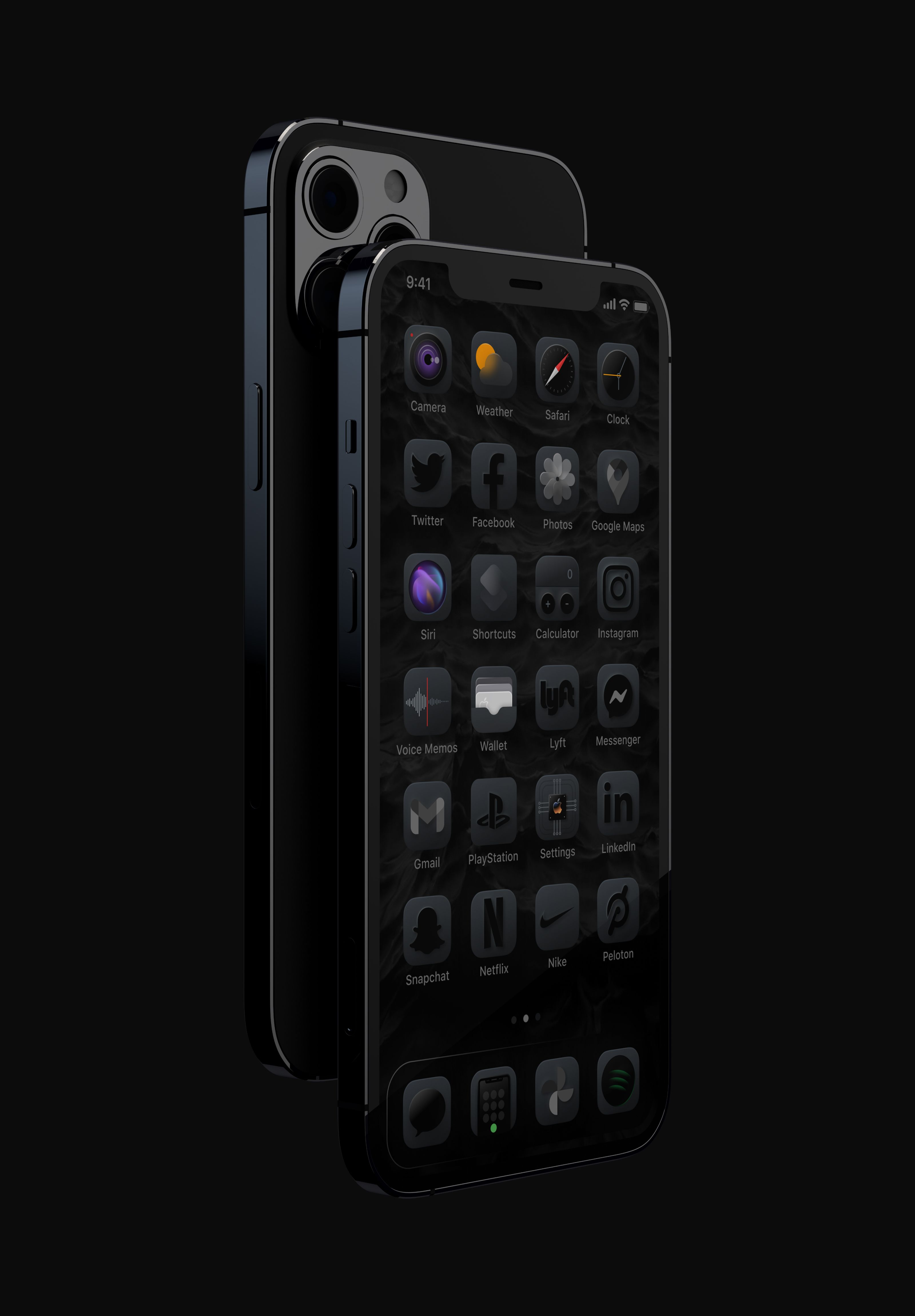Dark One A Collection Of Premium Ios Icons Black Phone Wallpaper Ios Icon Icon