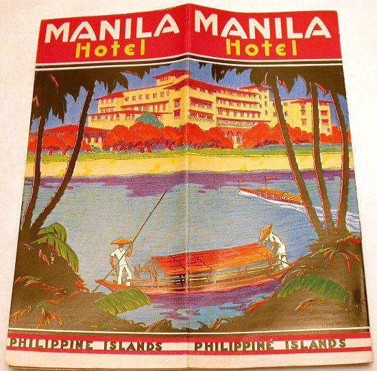 Manila Hotel: Brochure of the Manila Hotel when it was one ...