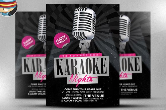 See All Our Club Flyer Templates Here This EasyToEdit Karaoke