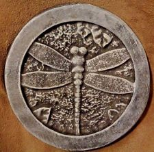 dragonfly stepping stone / plaque plastic mold concrete plaster mould
