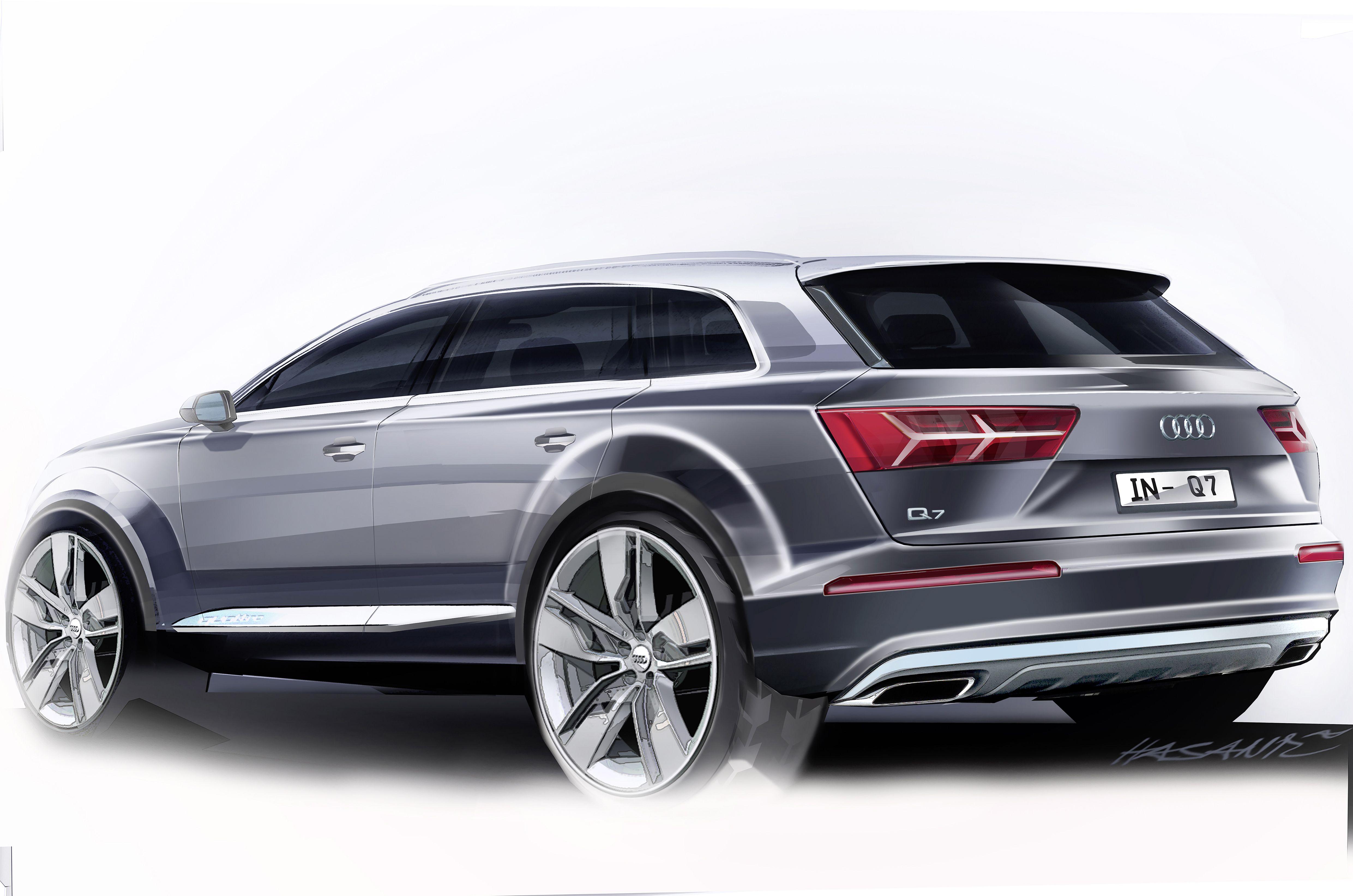 Audi Q7 Concept Design Sketch