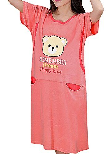 567e280ce695c USR Womens Eclectic Styles Maternity Breastfeeding Cap Sleeve Tunic  Sleepwear Pink One Size
