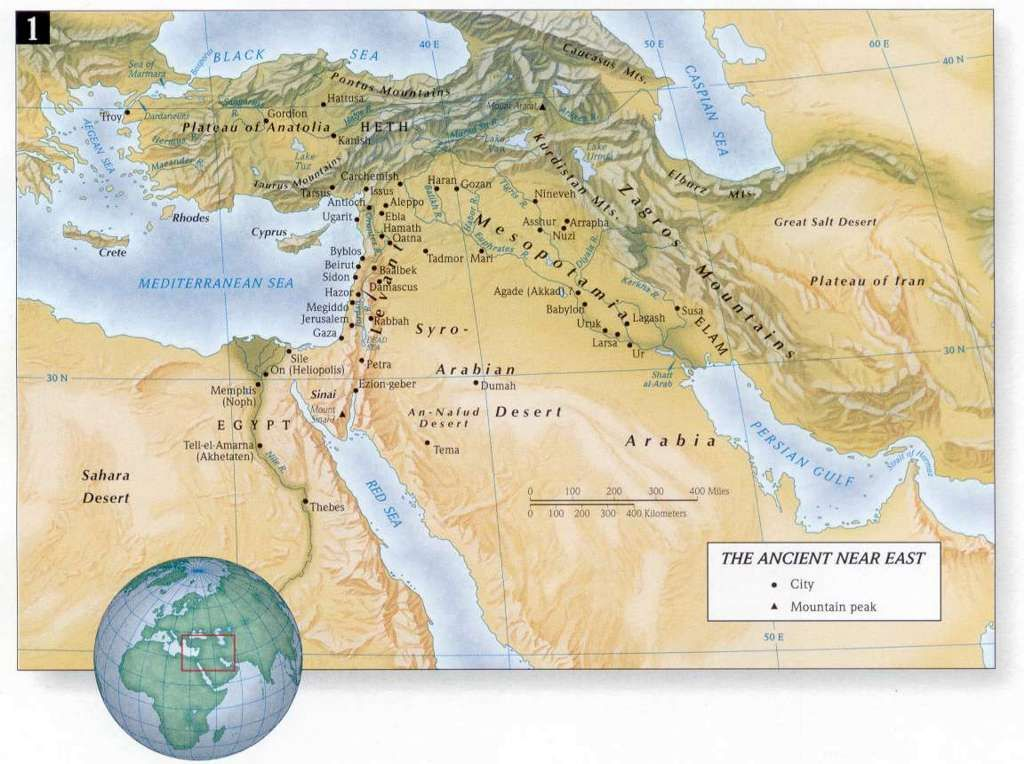 The ancient Near East is considered the cradle of civilization