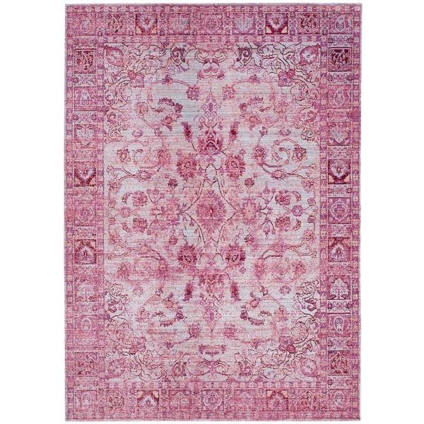 Safavieh Valencia Fuchsia/ Multi Polyester Rug (8' x 10')