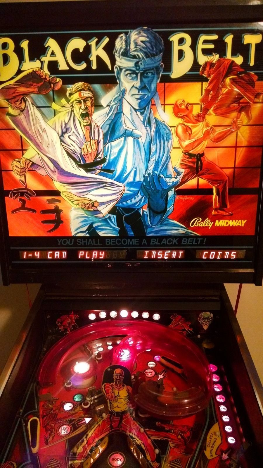 Bally Black Belt Pinball Picture Http Www Dialashop Com Pinball Bally Html Bally Pinball Machine Pinball Wizard Pinball Arcade